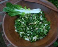 ginger lime bok choy