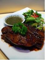 grilled steak green salsa