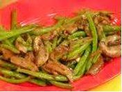 green beans shiitake mushrooms