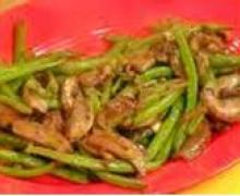 green beans shiitake mushrooms