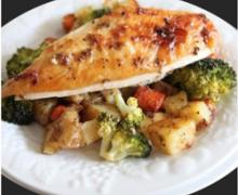 Maple Mustard Roasted Chicken and Veg