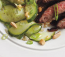 Spicy Beef Flank Steak With Fresh Cucumber Salad